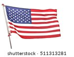 american flag on white... | Shutterstock . vector #511313281