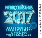 vector chic neon merry... | Shutterstock .eps vector #511314169