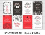 merry christmas invitation set. ... | Shutterstock .eps vector #511314367