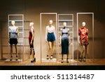 five mannequins standing in... | Shutterstock . vector #511314487