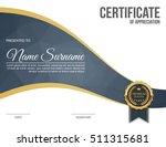 vector certificate template. | Shutterstock .eps vector #511315681