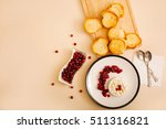 baked camembert with... | Shutterstock . vector #511316821