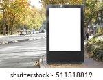 blank billboard in the city | Shutterstock . vector #511318819