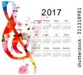 calendar planner 2017 design... | Shutterstock .eps vector #511318981