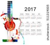 calendar planner 2017 design... | Shutterstock .eps vector #511319005