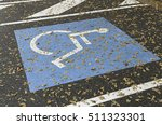 disabled parking on urban road  ... | Shutterstock . vector #511323301