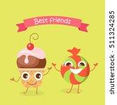 best friends caramel candy and...   Shutterstock .eps vector #511324285