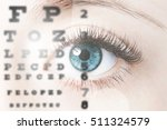 close up image of human eye... | Shutterstock . vector #511324579