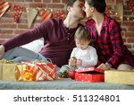 christmas morning. the young... | Shutterstock . vector #511324801