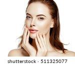 beautiful woman face portrait...   Shutterstock . vector #511325077