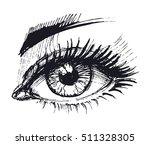 eye set. hand drawn sketch.... | Shutterstock .eps vector #511328305