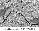 urban city map of paris  france | Shutterstock .eps vector #511329829