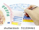 the game of 10 and lotto in... | Shutterstock . vector #511334461