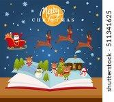 christmas fairy tale concept  ... | Shutterstock .eps vector #511341625