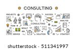 line concept for consulting.... | Shutterstock .eps vector #511341997