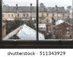 Gloomy Rainy Window With A Vie...