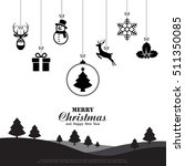 merry christmas and happy new... | Shutterstock .eps vector #511350085