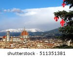 christmas tree and cathedral... | Shutterstock . vector #511351381
