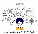 student smart  graduate ... | Shutterstock .eps vector #511352041