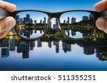 looking through the glasses... | Shutterstock . vector #511355251