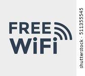 wifi free icon | Shutterstock .eps vector #511355545