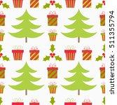 christmas seamless pattern.... | Shutterstock .eps vector #511355794