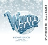 winter sale banner. vector... | Shutterstock .eps vector #511358365