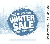 winter sale banner. vector... | Shutterstock .eps vector #511358551