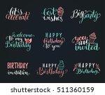 vector handwritten happy... | Shutterstock .eps vector #511360159