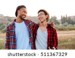 two cheerful asian and african... | Shutterstock . vector #511367329