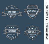 set flat crest collection vector | Shutterstock .eps vector #511368487