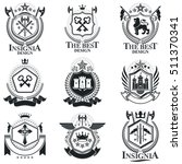 heraldic signs  elements ... | Shutterstock .eps vector #511370341