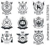 heraldic signs  elements ... | Shutterstock .eps vector #511370341