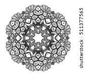 black and white hexagonal...   Shutterstock .eps vector #511377565