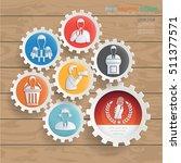businessman and employee design ... | Shutterstock .eps vector #511377571