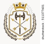 heraldic emblem isolated vector ... | Shutterstock .eps vector #511377601