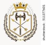 heraldic emblem isolated vector ... | Shutterstock .eps vector #511377601
