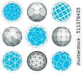 set of abstract 3d faceted... | Shutterstock .eps vector #511378435
