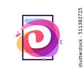 d letter logo in square frame... | Shutterstock .eps vector #511382725