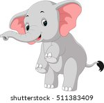 elephant cartoon | Shutterstock . vector #511383409