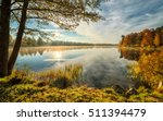 Stock photo lake autumn scenery in october 511394479