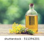Bottle Of Rapeseed Oil  Canola...