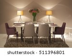 dinner room | Shutterstock . vector #511396801