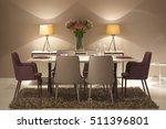 dinner room | Shutterstock . vector #511396801