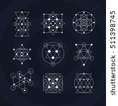 sacred geometry symbols... | Shutterstock . vector #511398745