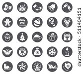 christmas icons | Shutterstock .eps vector #511404151