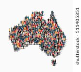 people map country australia... | Shutterstock .eps vector #511405351