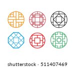 circle chinese pattern window...   Shutterstock .eps vector #511407469