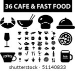 36 cafe   fast food signs.... | Shutterstock .eps vector #51140833