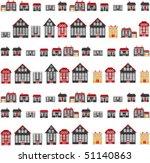 city houses. vector | Shutterstock .eps vector #51140863